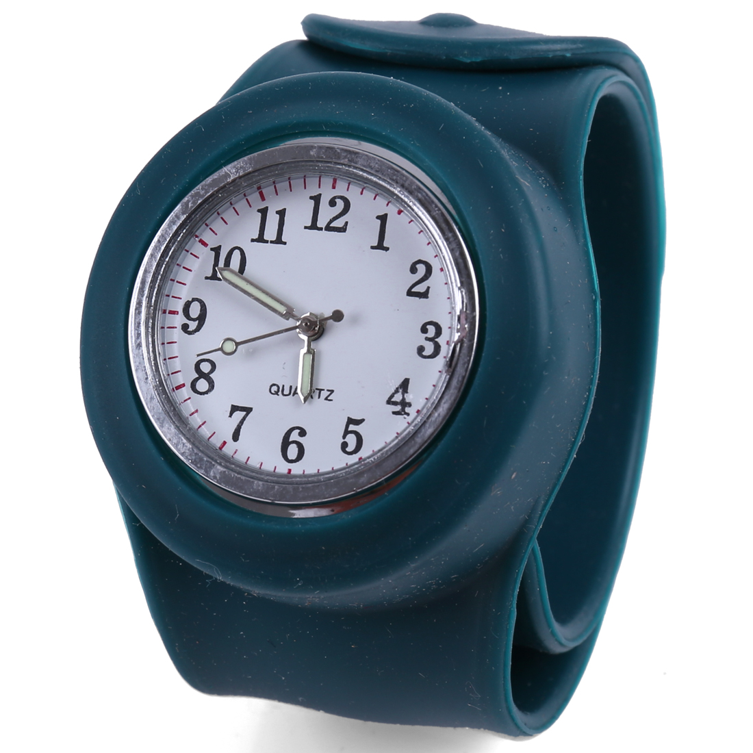Dark Green Fashion Adjustable in Any Size Band Design Wrist Watch for Kids
