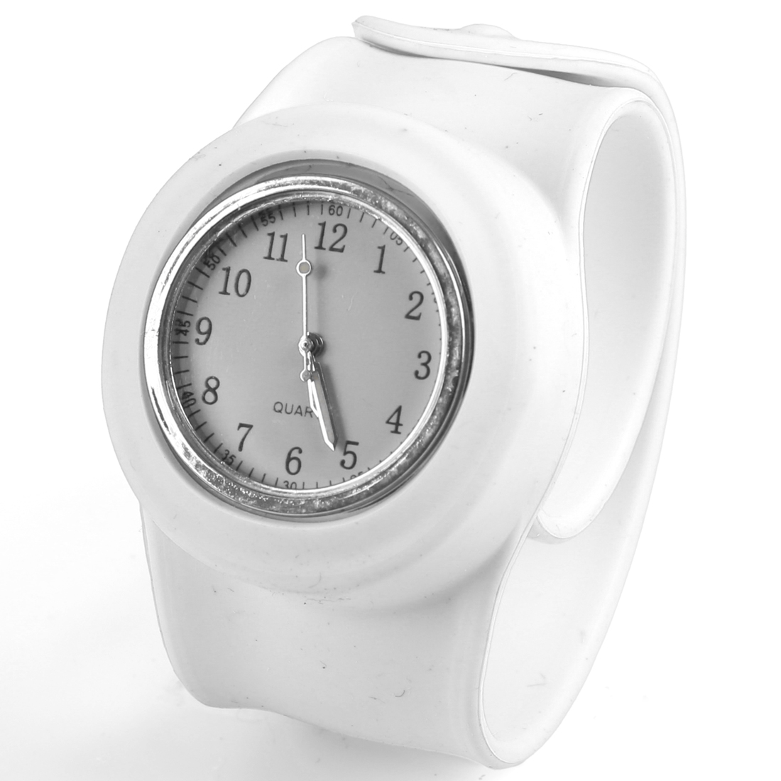 Kids New Style Round Dial Wide Adjustable Bangle Band White Wrist Watch