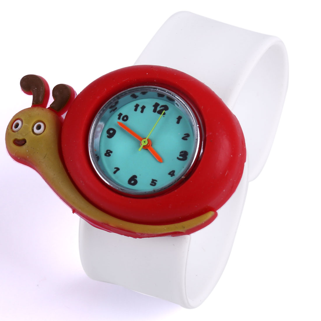 Cute Cartoon Snail Analog Wrist Watch White Red for Children
