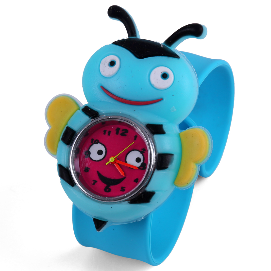 Boys Girls Cute Bee Dial Strap Wrist Watch Red Light Blue