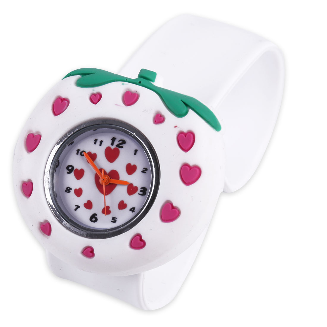 Children Strawberry Style Casual Wrist Watch White