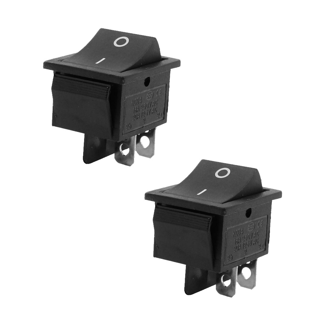 16A 250VAC 20A 125VAC 2 Position 4 Pin ON/OFF DPST Boat Rocker Switch 2 Pcs