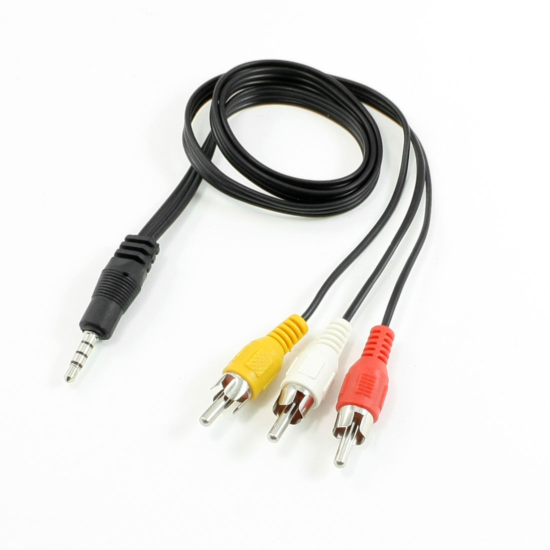 "30"" Long 3 RCA Male to 3.5mm Male Plug Audio Splitter Cable"