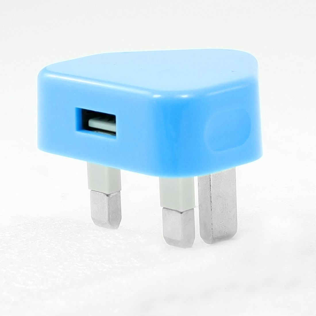 100-240V Plastic Heart Shell UK Stylish AC USB Charger Adapter Plug Blue
