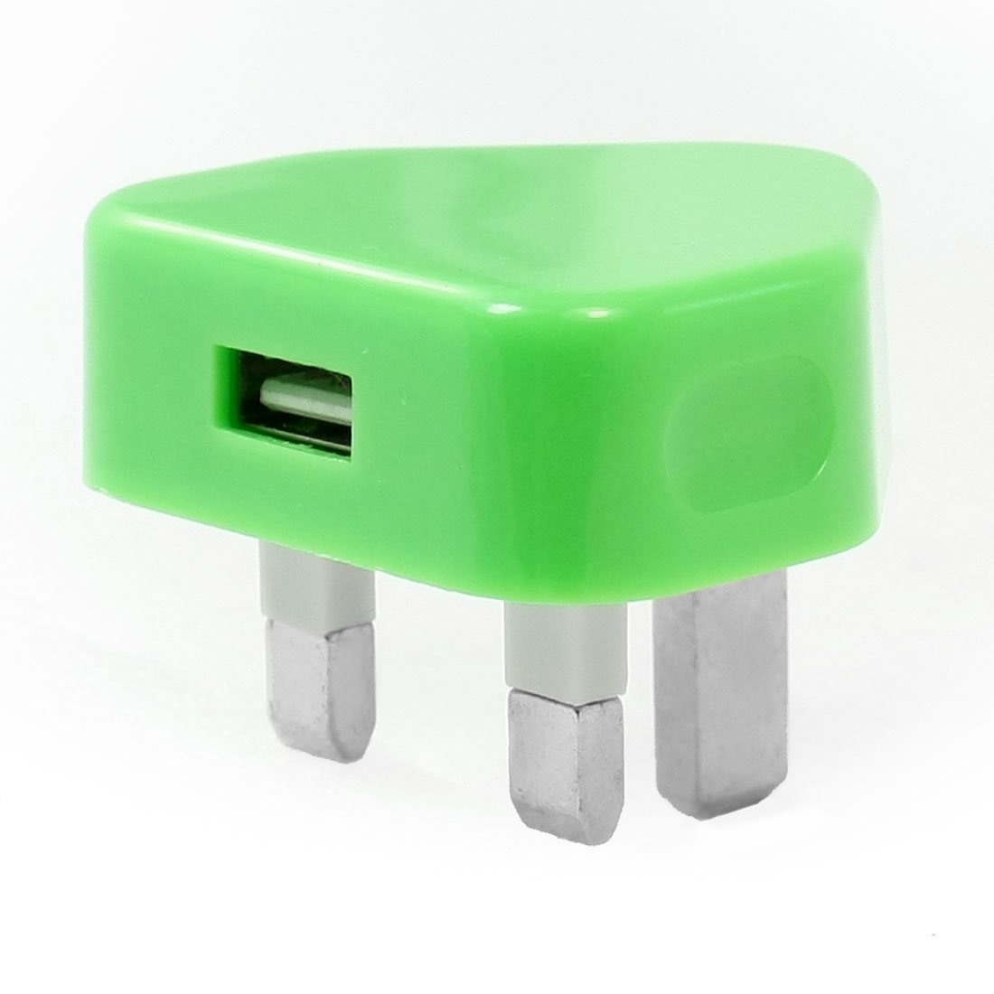Smartphone Plastic UK Plug 100-240V AC to USB Charger Adapter Bright Green