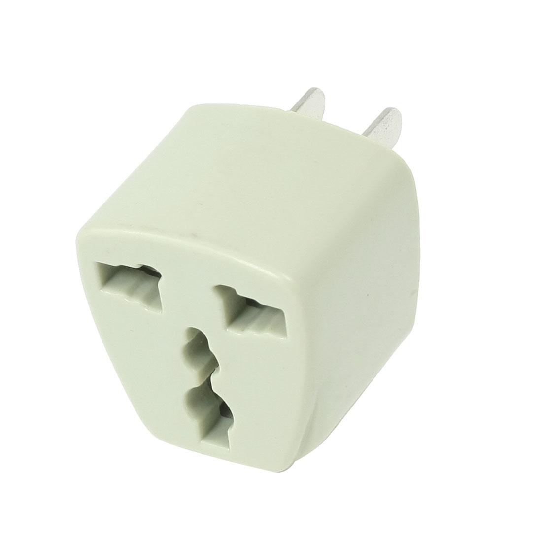 10A 250VAC AU/EU/UK Socket to US 2 Pin Plug Travel Power Adapter