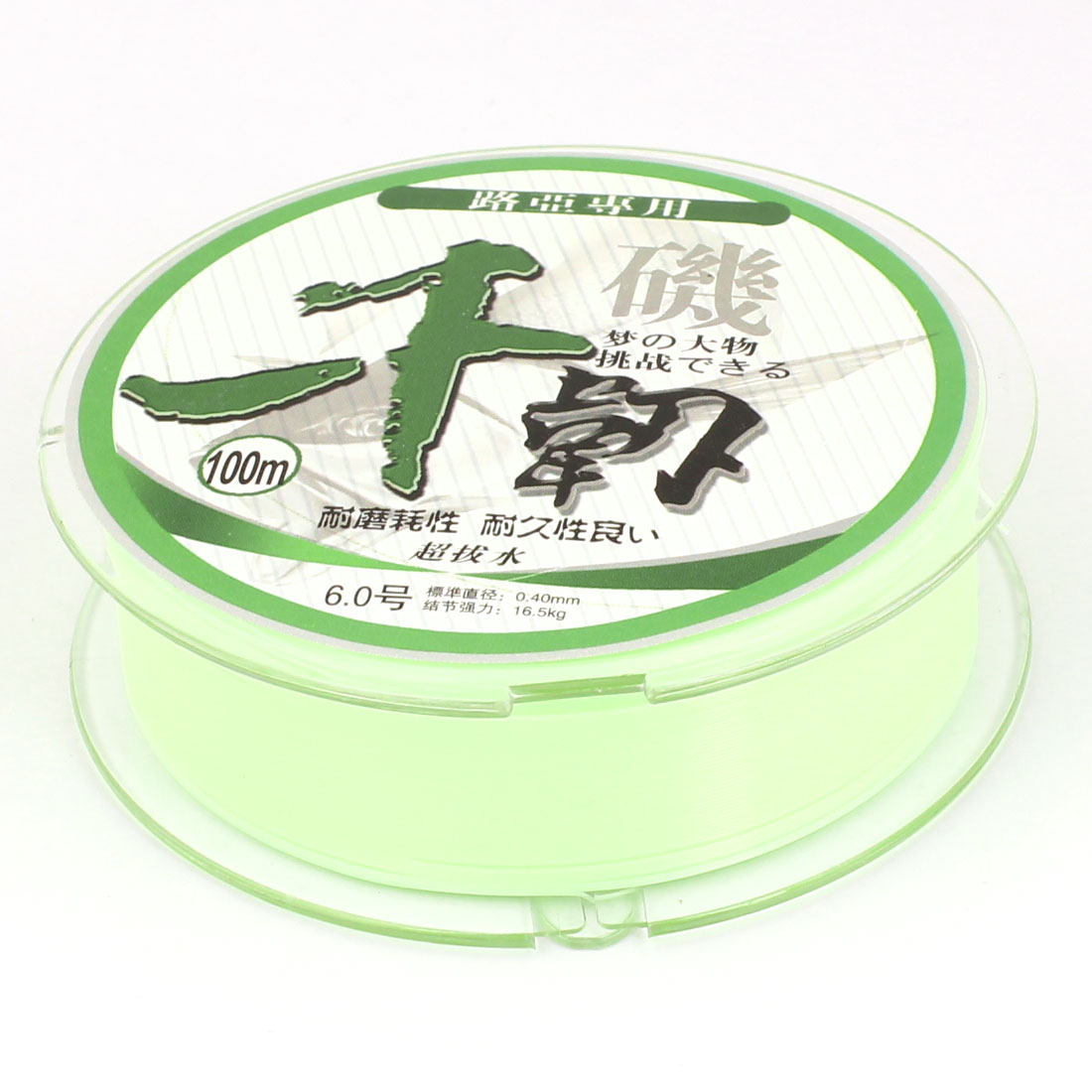 0.40mm Diameter 16.5Kg Light Green Nylon Freshwater Fishing Spool Line 100M