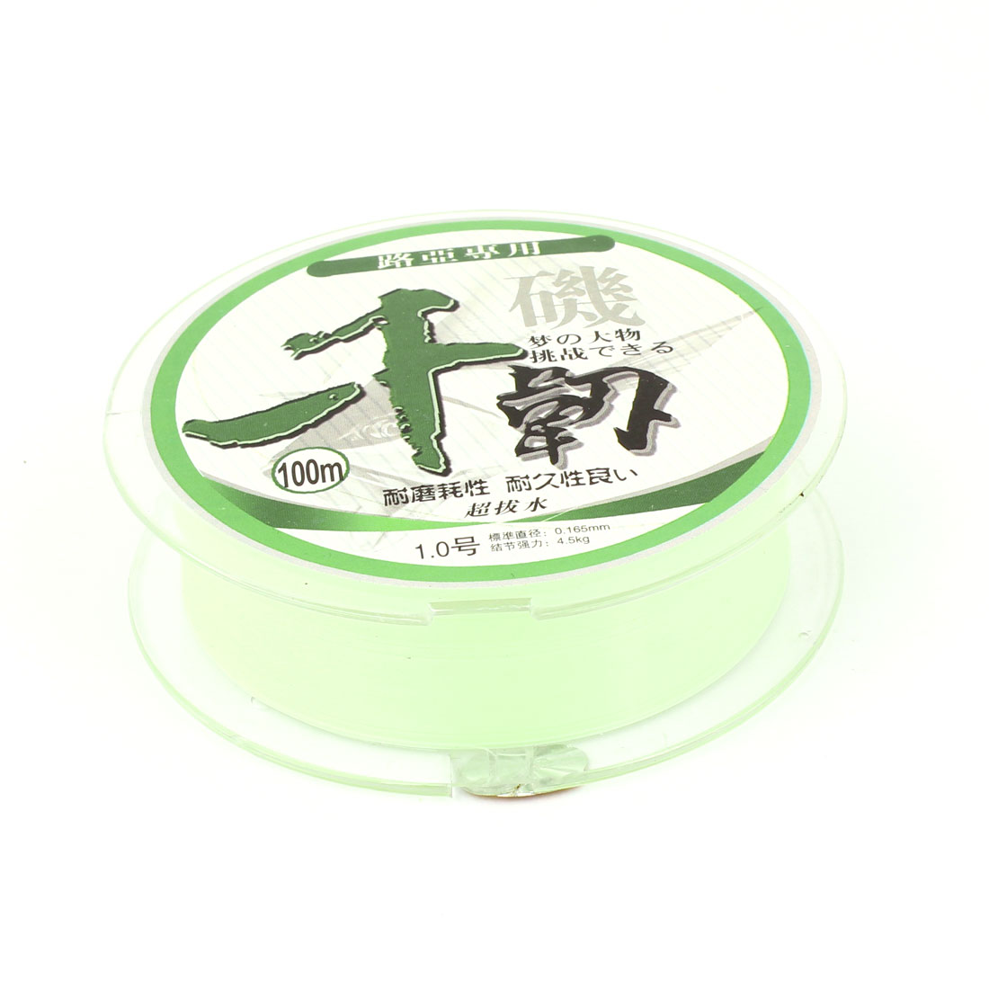 100M 0.165mm Dia Light Green Nylon Abrasion Resistance Fishing Spool Line String