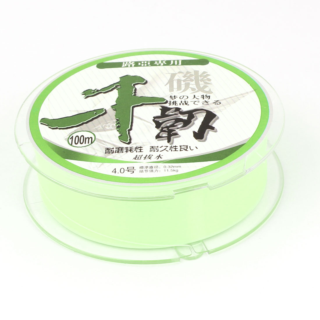 100M 0.32mm Dia Light Green Nylon Abrasion Resistance Fishing Spool Line String