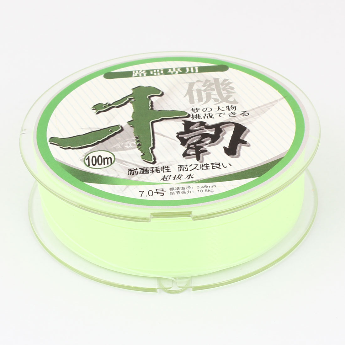 18.5Kg 40.8 lb 0.45mm Dia 100M Light Green Nylon Fishing Spool Line String