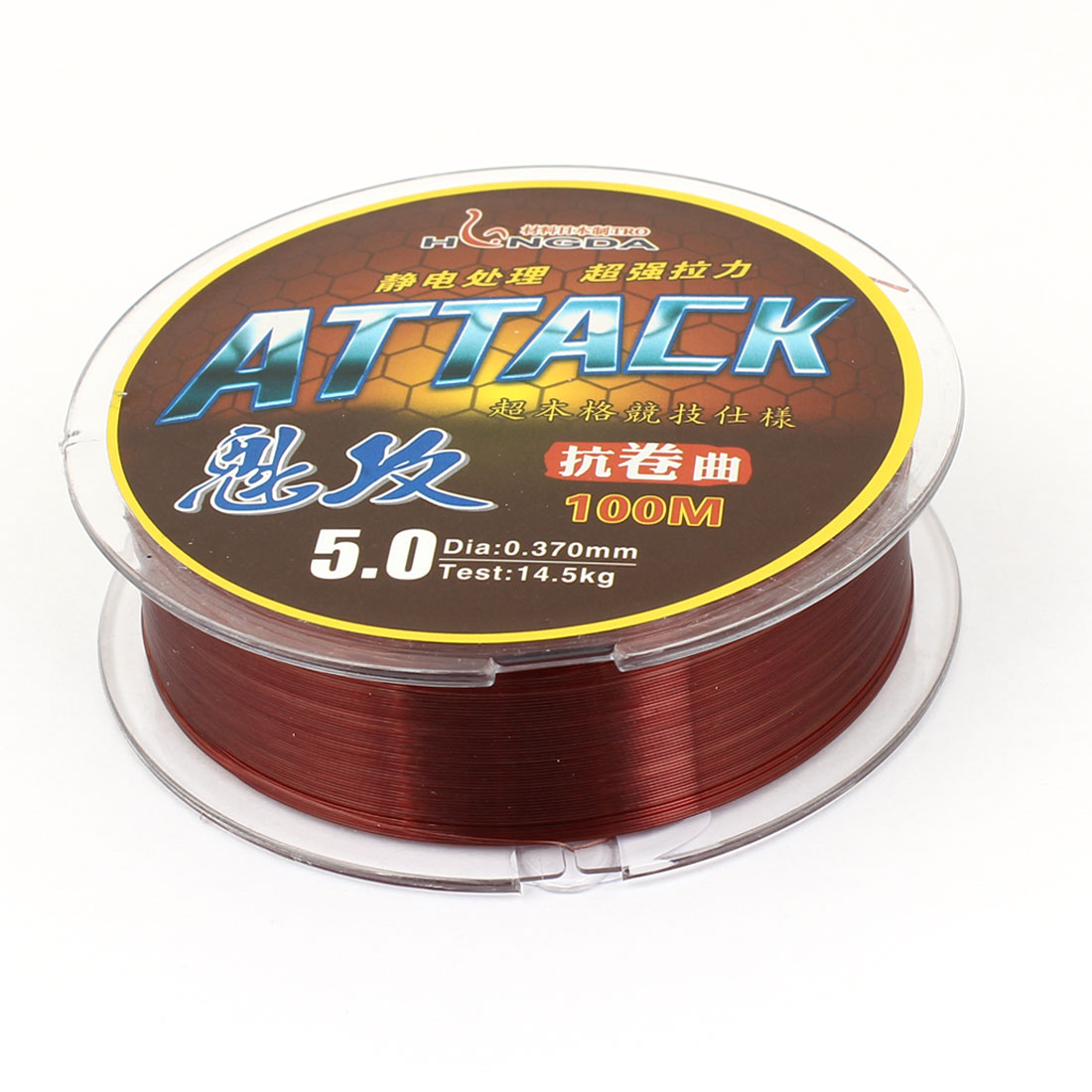 0.370mm Diameter 100M Thread 14.5Kg 31.9 lb Fishing Line Spool Brown