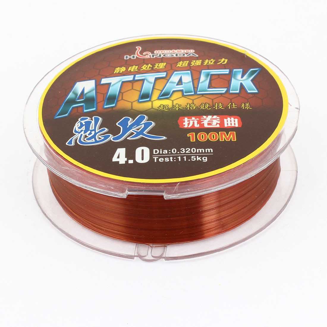 Brown Nylon Thread 0.320mm Diameter 11.5Kg Fishing Line Spool 100M