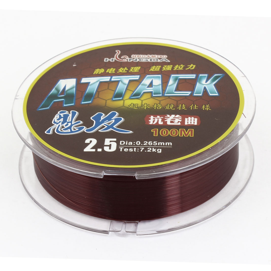 0.265mm Diameter 100M Thread 7.2Kg 15.9 lb Fishing Line Spool Brown