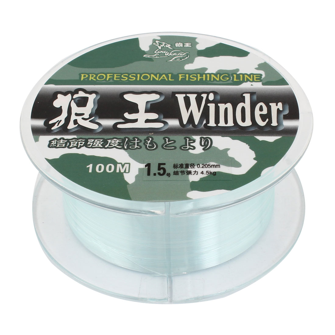 1.5# Green Nylon Thread 0.205mm Dia 4.5Kg Fishing Line Spool 100M