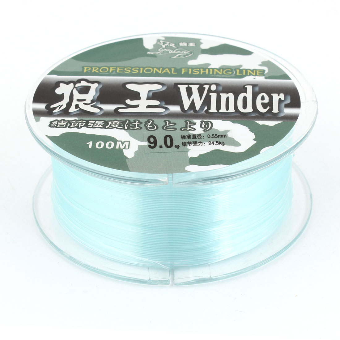 9.0# 0.55mm Diameter 100M Thread 24.5Kg 54 lb Fishing Line Spool Green