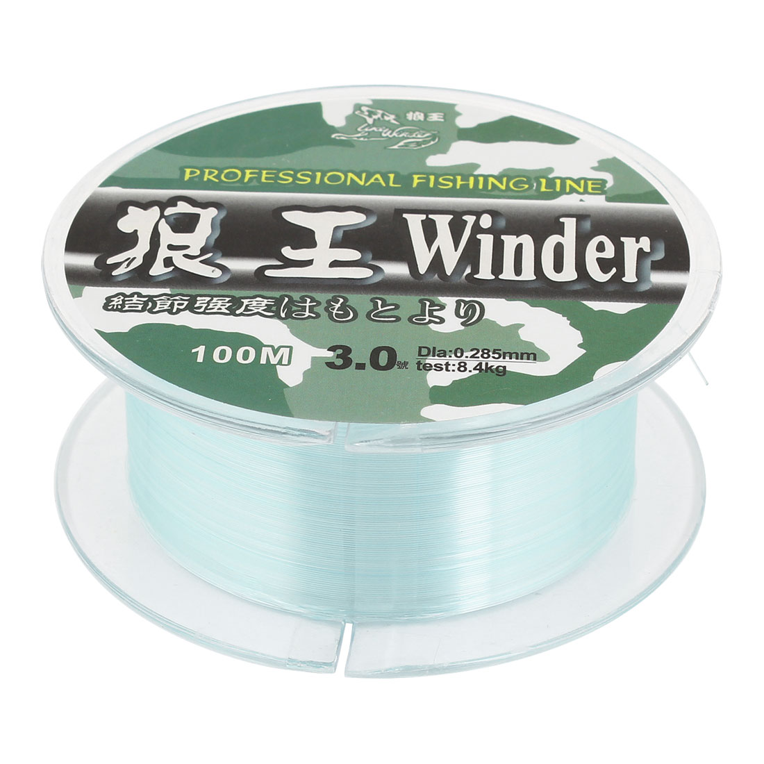 Green 0.285mm Dia 8.4Kg Freshwater Fishing Line Spool 328Ft 3.0#