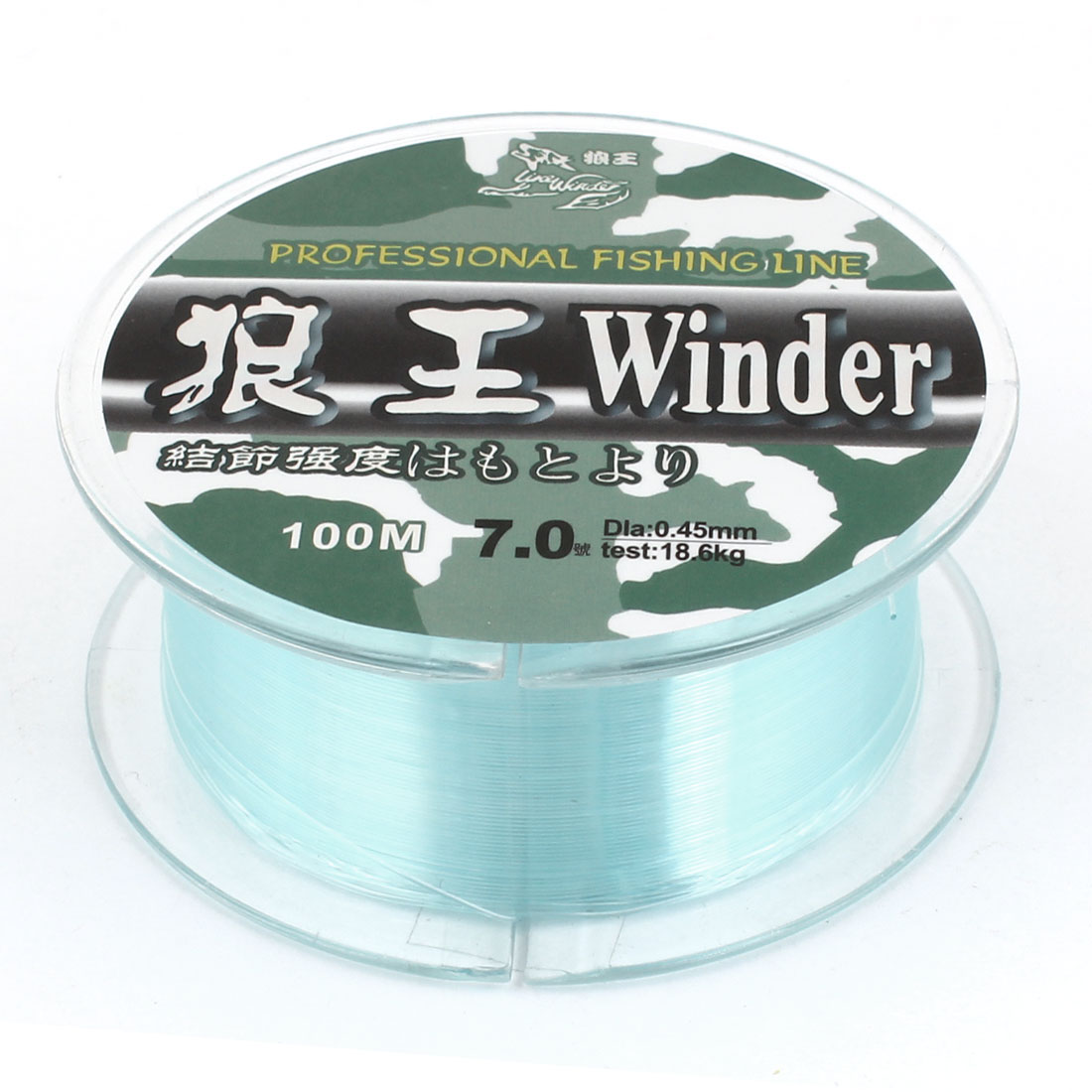 7.0# 0.45mm Diameter 100M Thread 18.6Kg 41 lb Fishing Line Spool Green