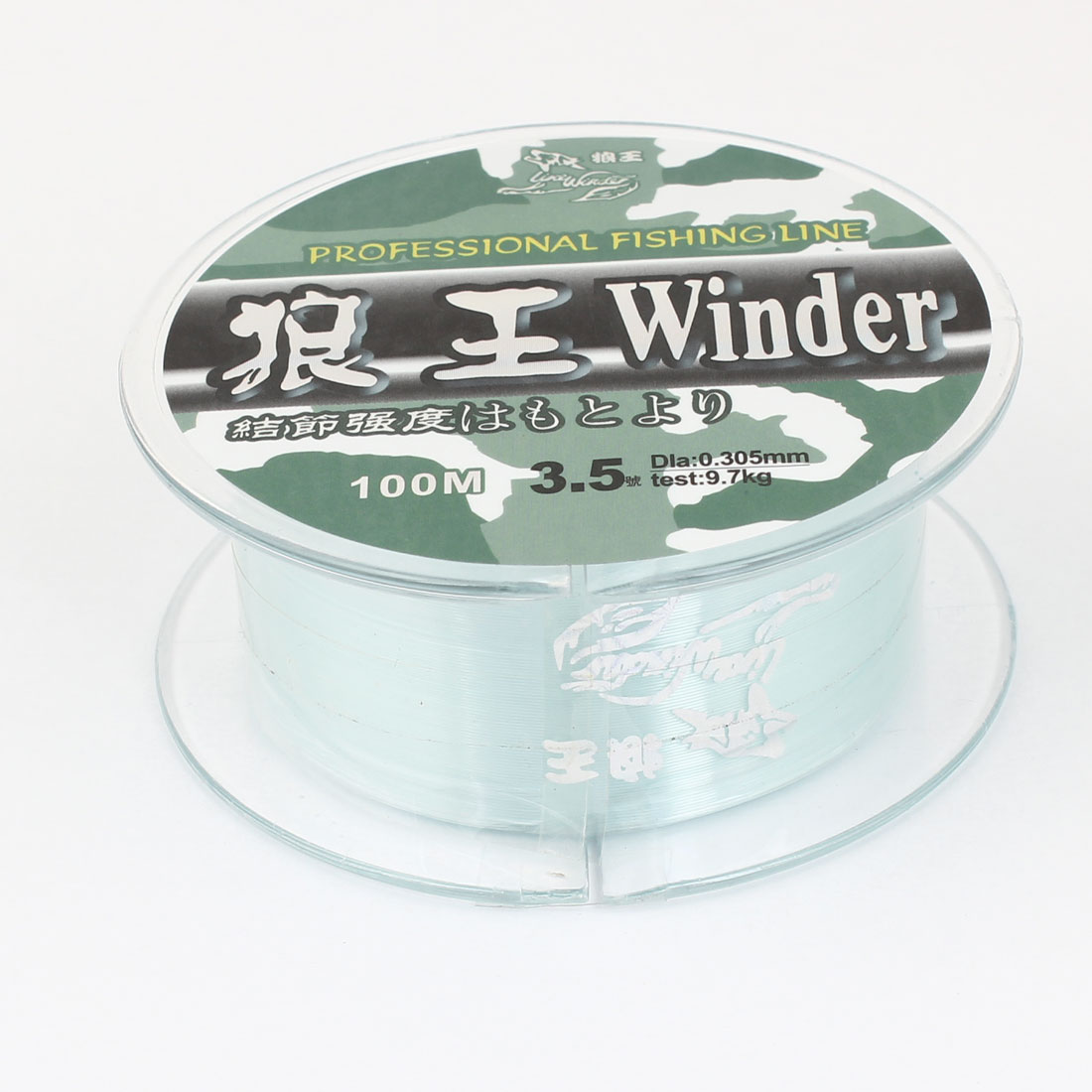 3.5# Green Nylon Thread 0.305mm Diameter 9.7Kg Fishing Line Spool 100M