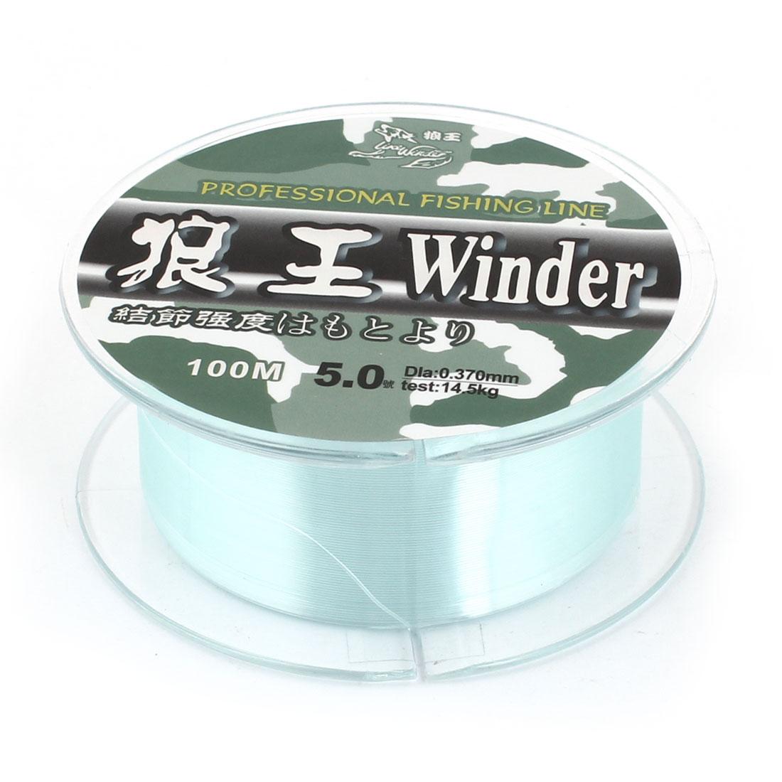 5.0# 0.370mm Diameter 100M Thread 14.5Kg 31.9 lb Fishing Line Spool Green