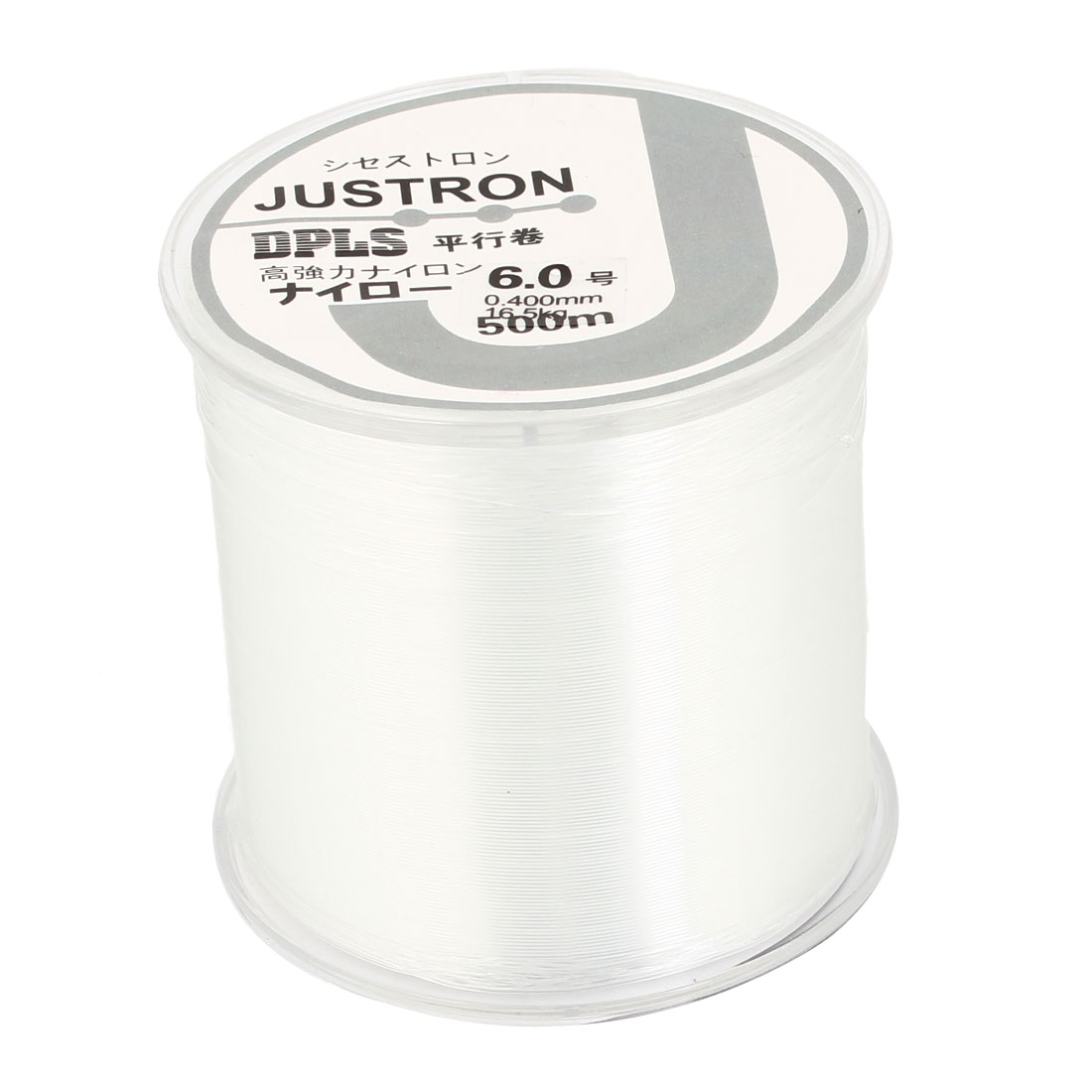 6.0# Clear Nylon Thread 0.400mm Dia 16.5Kg Fishing Line Spool 500M