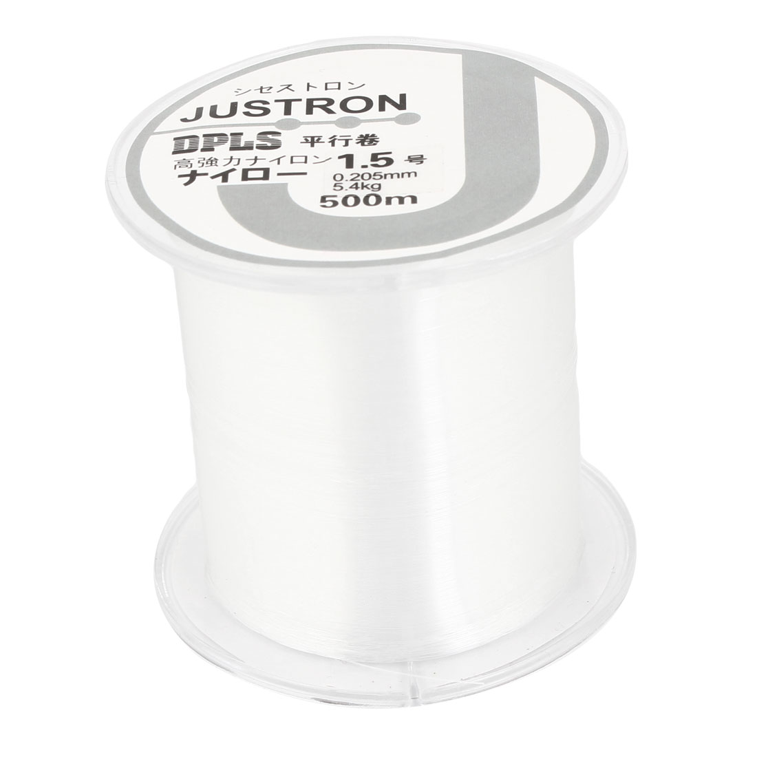 1.5# Clear Nylon Thread 0.205mm Dia 5.4Kg Fishing Line Spool 500M