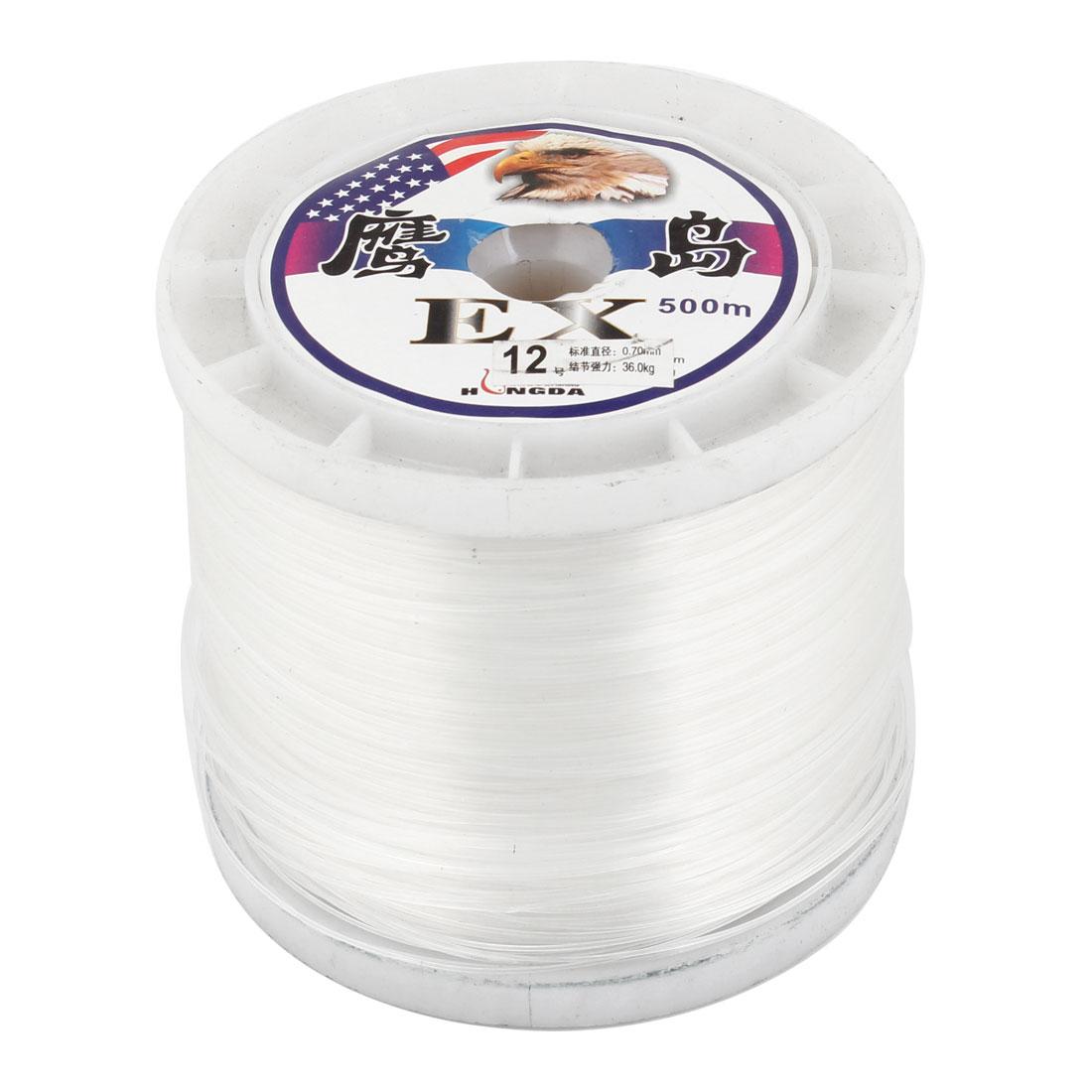 0.70mm Diameter 500M Thread 36Kg 79.4 lb Fishing Line Spool White