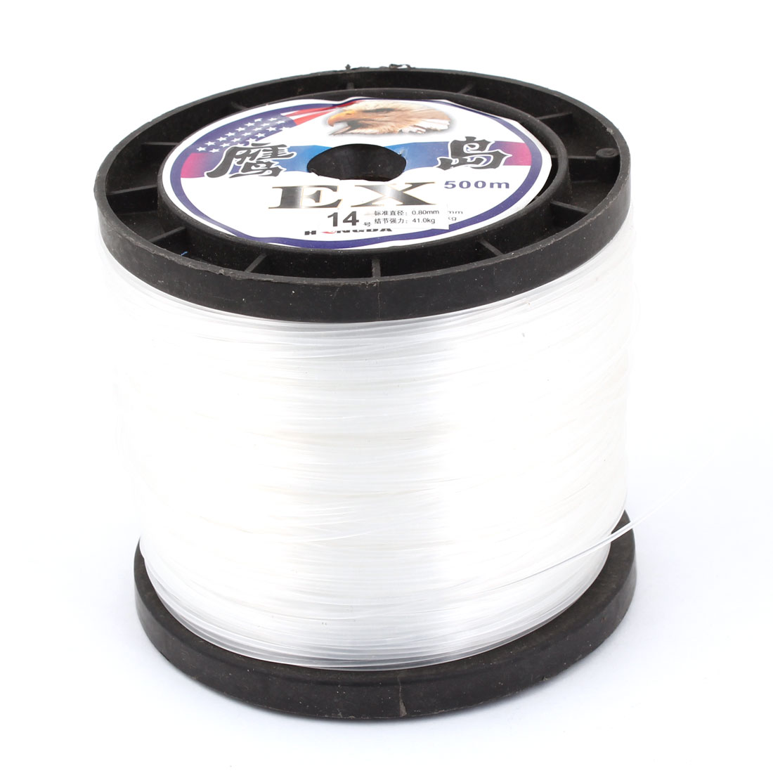 White 0.80mm Diameter 41Kg Freshwater Fishing Line Spool 1640Ft