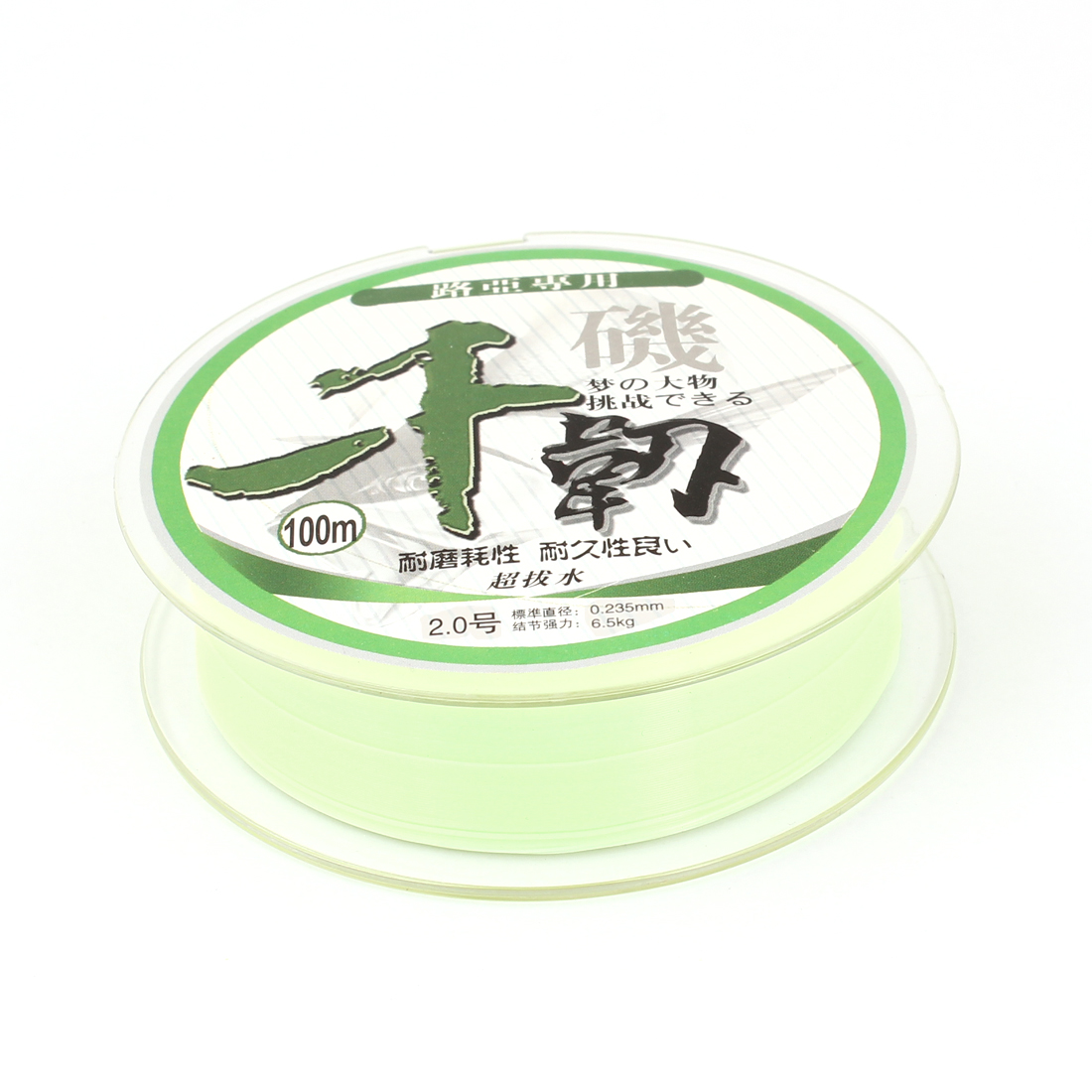 6.5Kg 14.3 lb 0.235mm Dia 100M Light Green Nylon Fishing Spool Line String