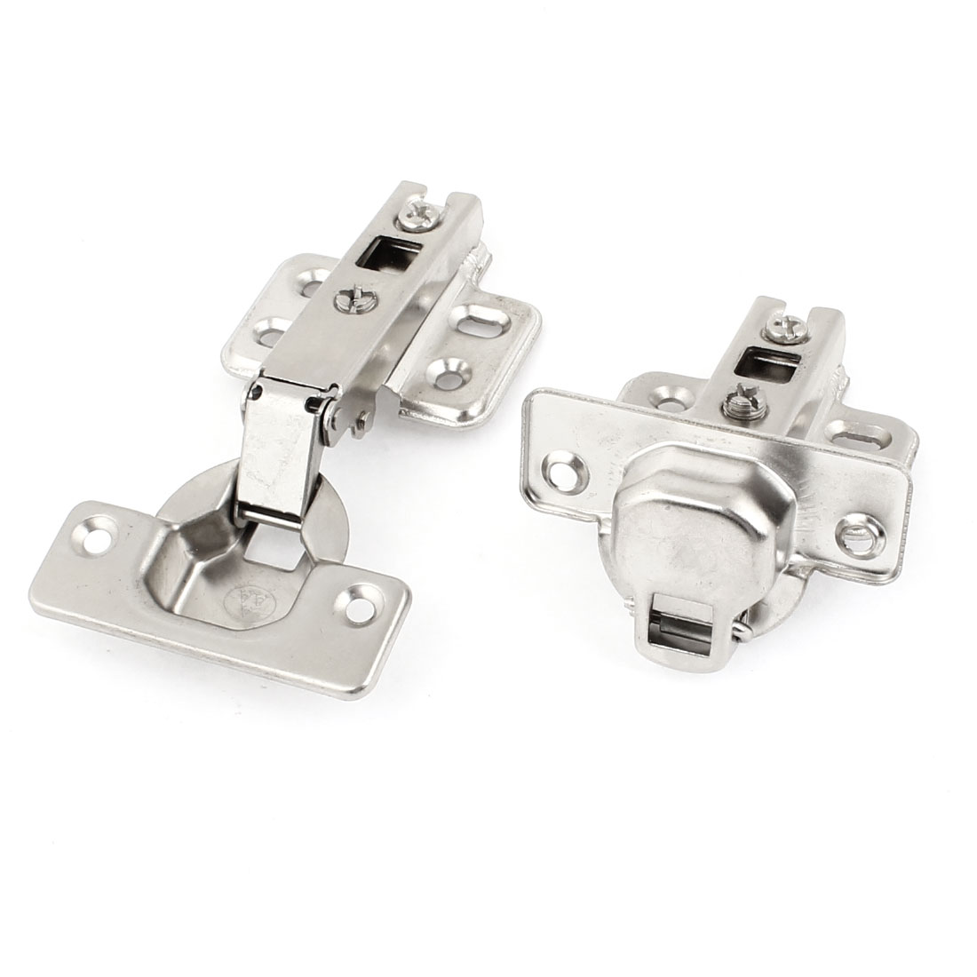 Repairing Part 4.3mm Diameter Screws Fixed Metal Cabinet Concealed Hinge 2Pcs