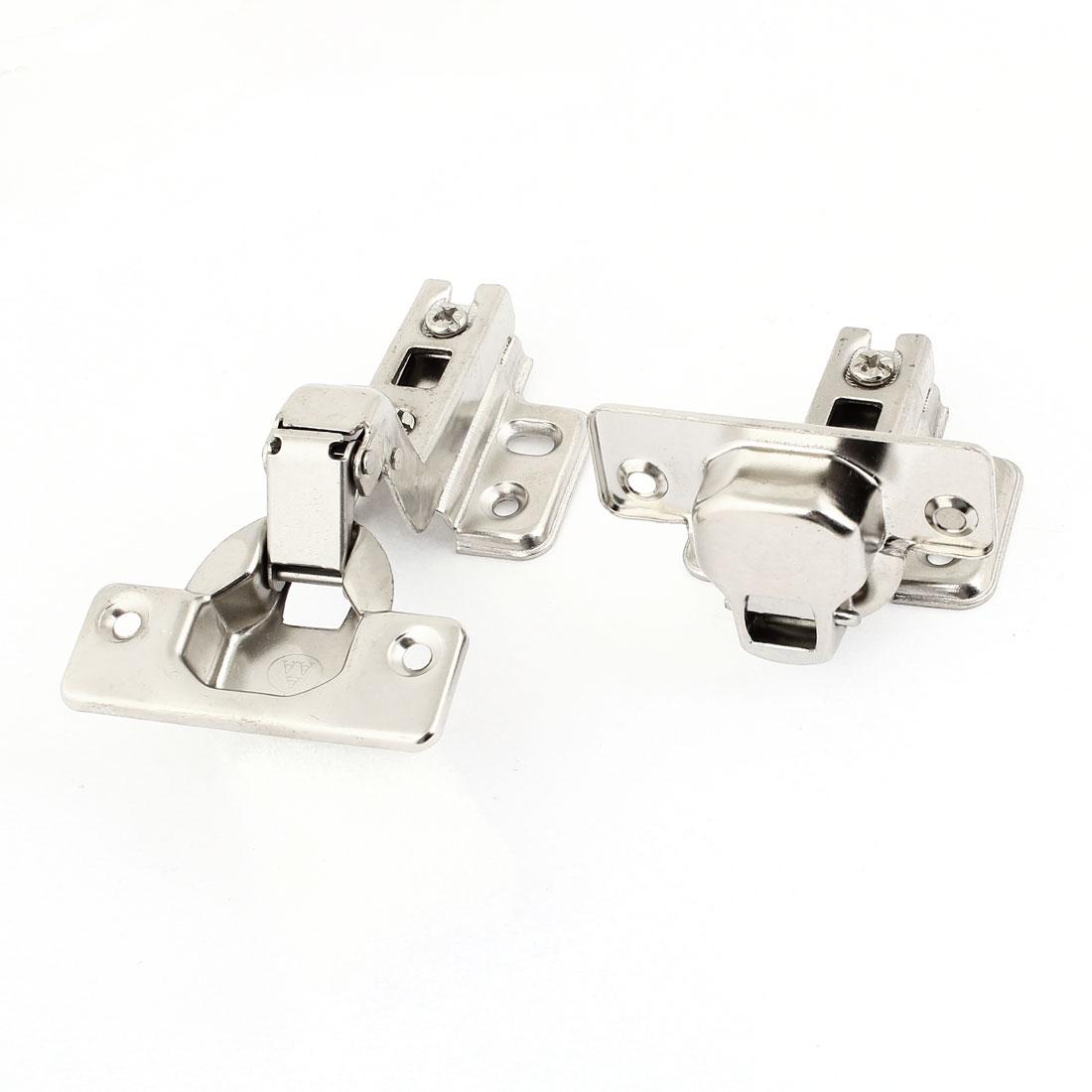 """Repairing Part 0.16"""" Diameter Screws Fixed Metal Cabinet Concealed Hinge 2Pcs"""