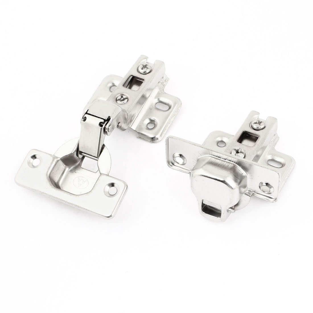 "2Pcs Hardware Tool 4"" Length Metallic Concealed Cabinet Hinge for Cupboard"