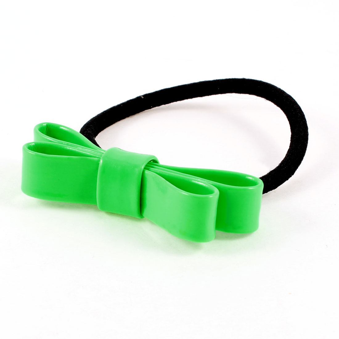 Children Black Green Lovely Bowknot Elastic Hair Tie Ponytail Holder