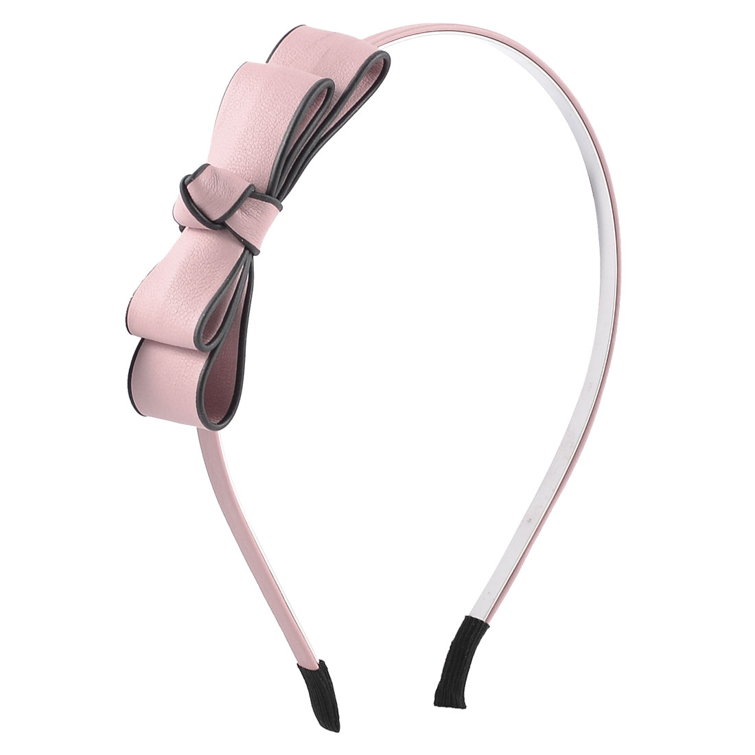 Bowknot Detailing Light Pink Faux Leather Coated Headband Hairband