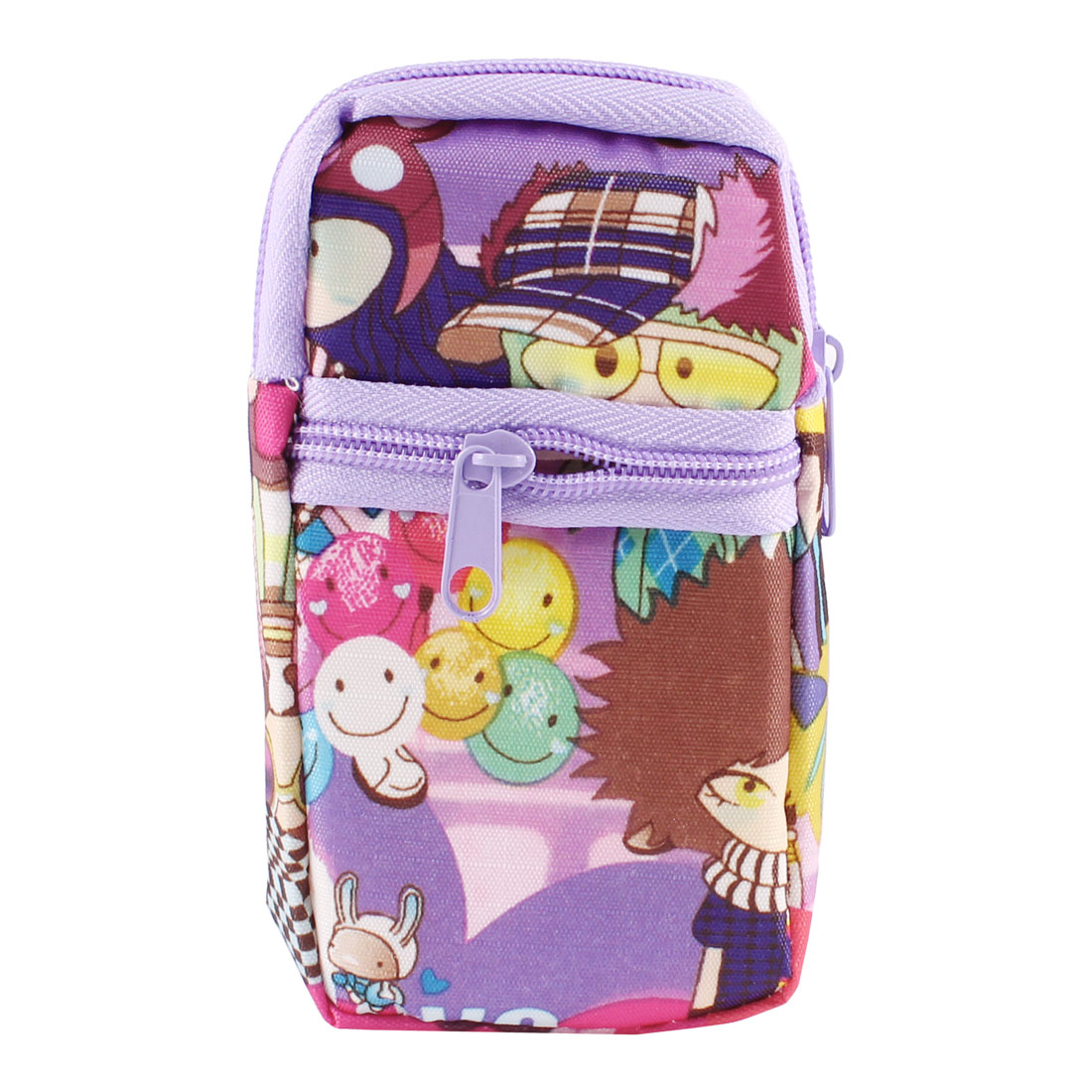 Multicolor Cartoon Printed Dual Compartments MP4 MP3 Phone Wrist Bag Holder