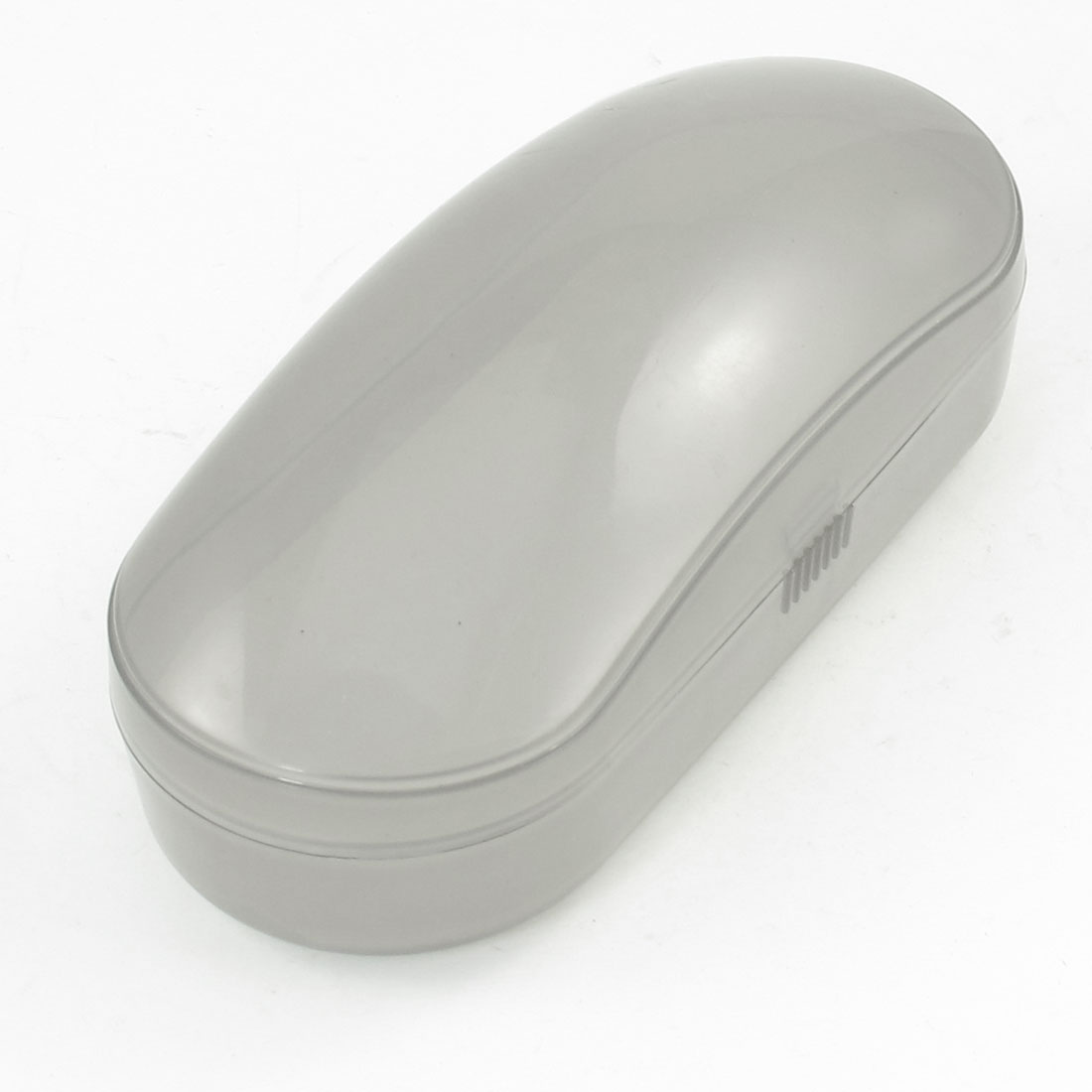 "6.3"" Length Oval Shell Clear Gray Sunglasses Eyeglasses Case Holder"