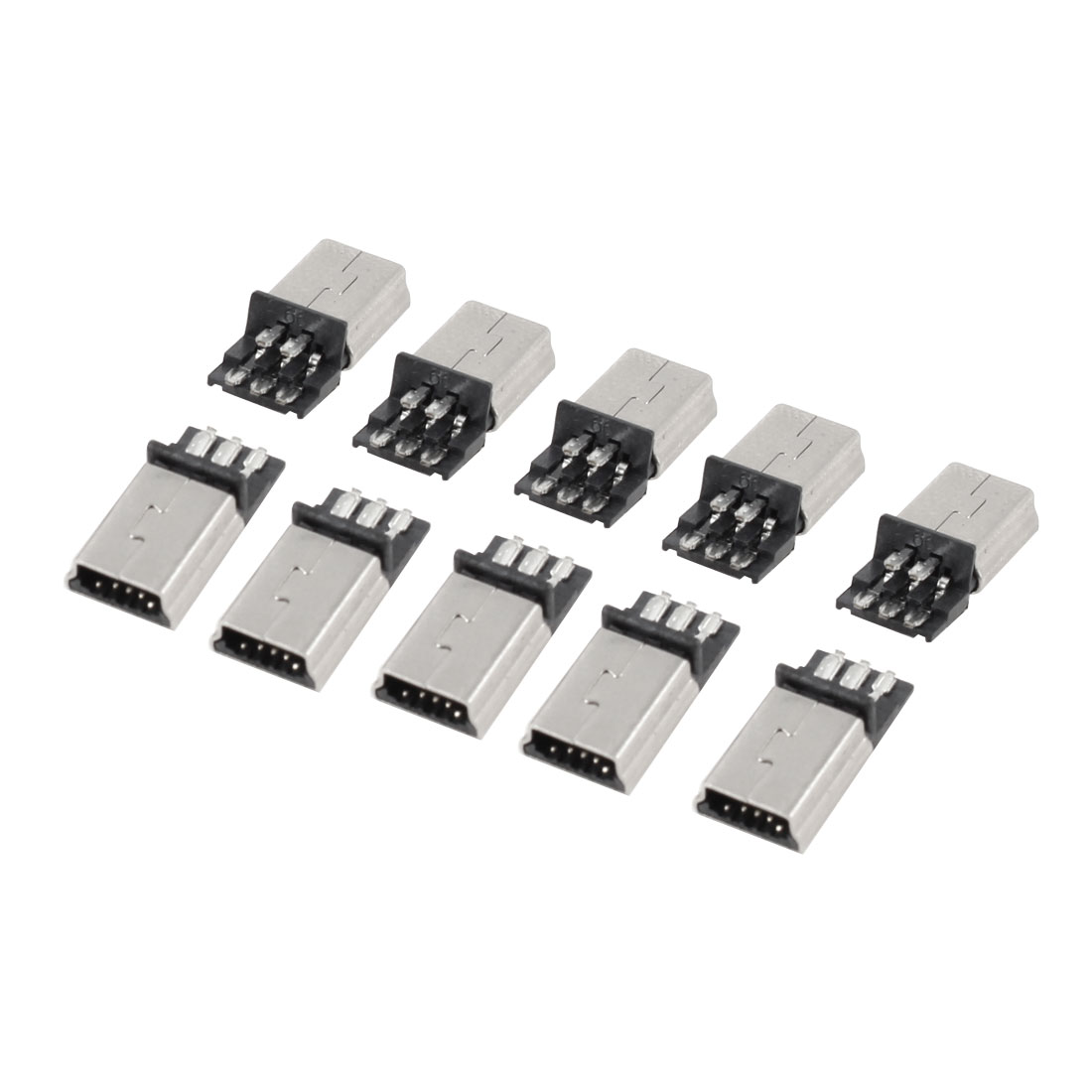 10 x Mini USB 5 Pin Type B Male Connector Port Solder Plug for PCB
