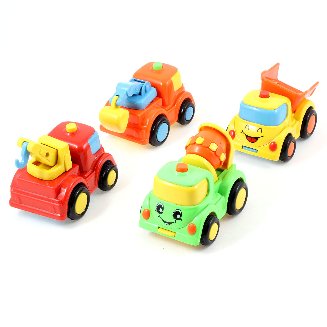 Children Multicolored Plastic Inertia Dump Truck Engineering Car Toys 4 in 1