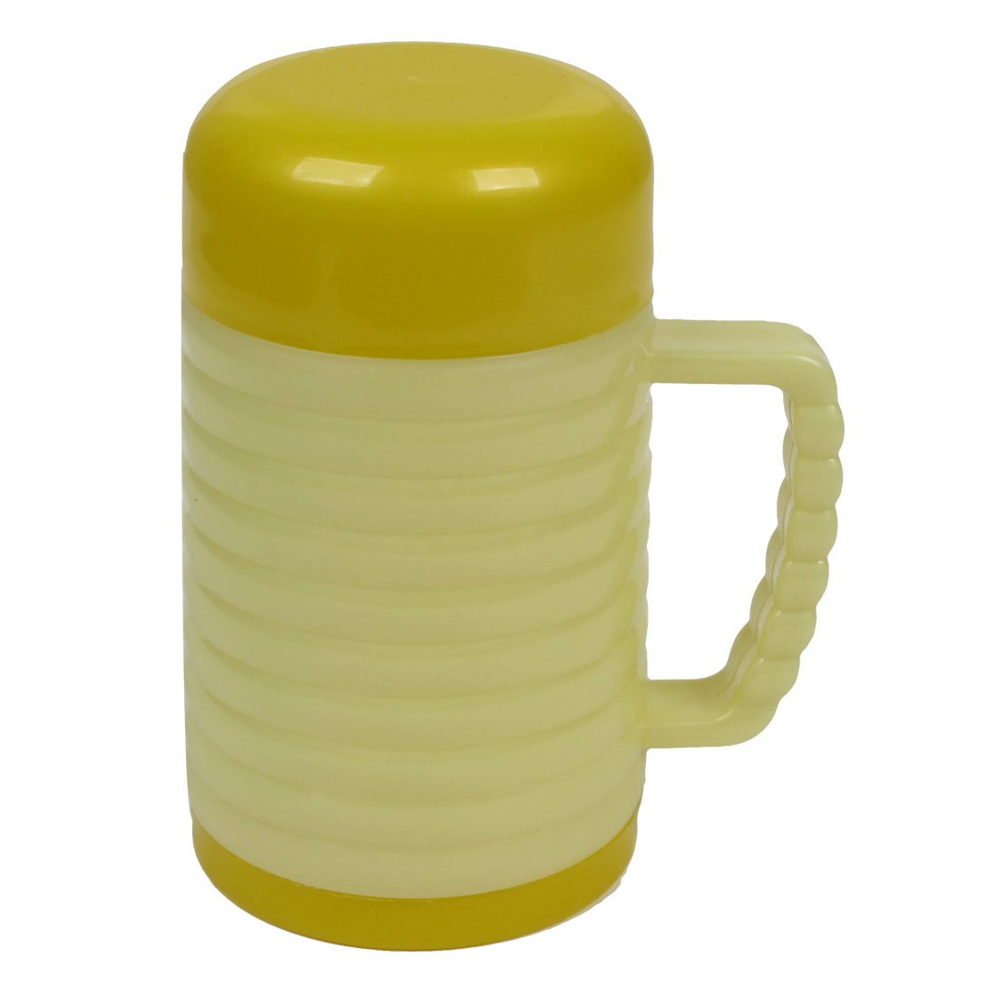 Home Office Water Container Yellow Plastic Vacuum Flask Bottle 300ml