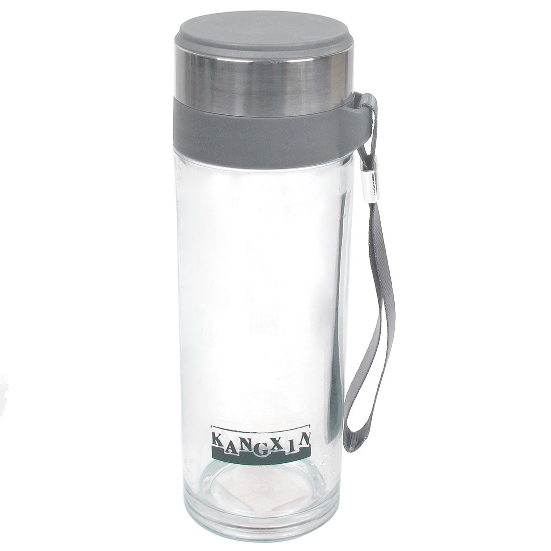300ml Capacity Cylinder Shape Clear Plastic Water Bottle Cup Holder