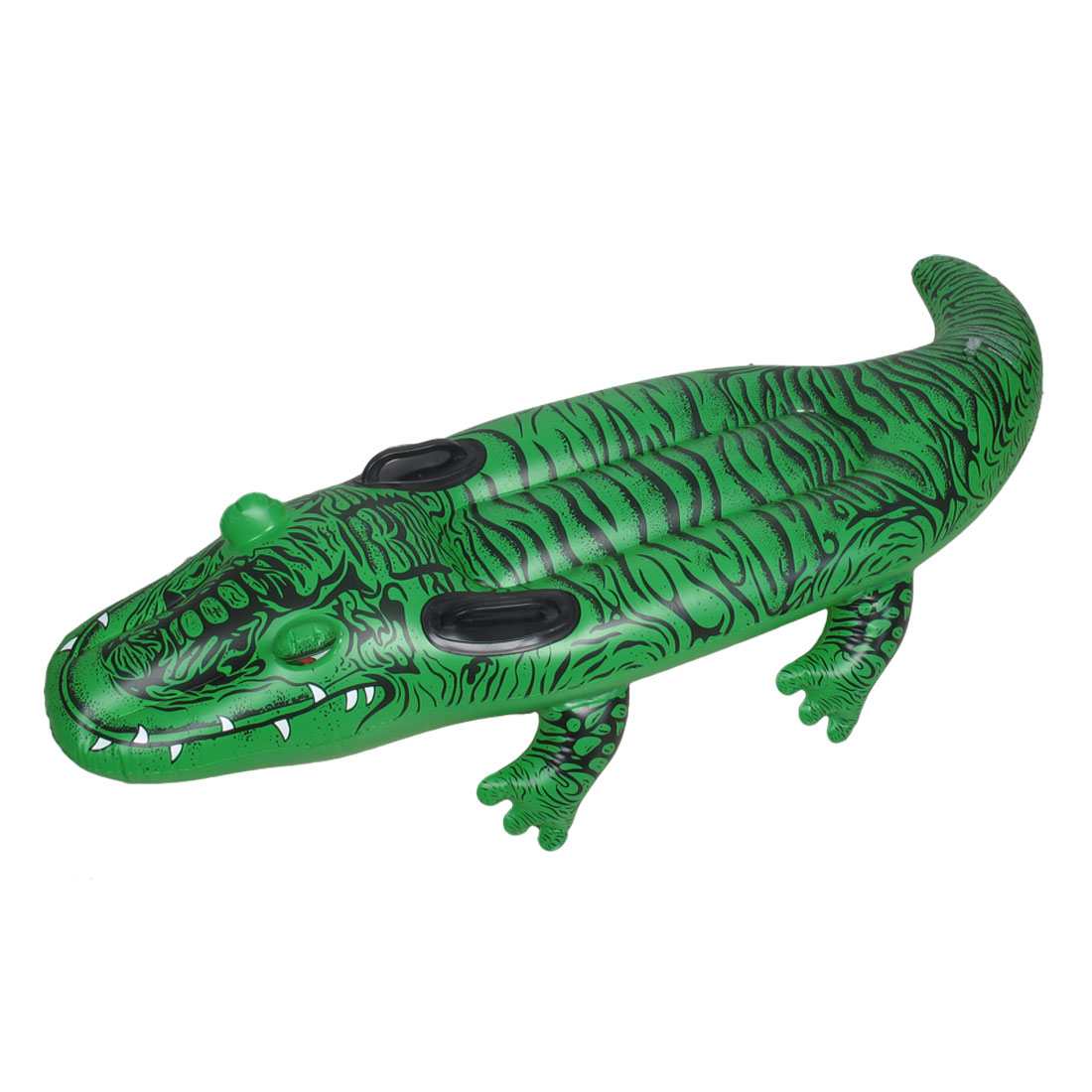 Green Crocodile Pattern PVC Inflatable Paddle Floating Swimming Boat for Kids