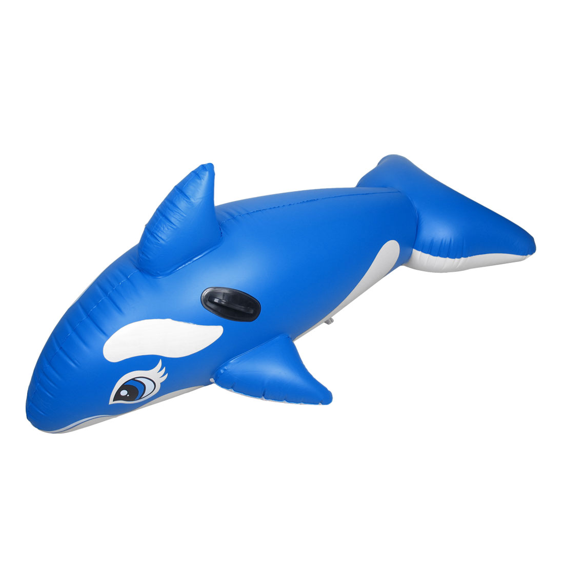 Water Sports PVC Whale Shaped Inflatable Swimming Safe Boat Blue for Children