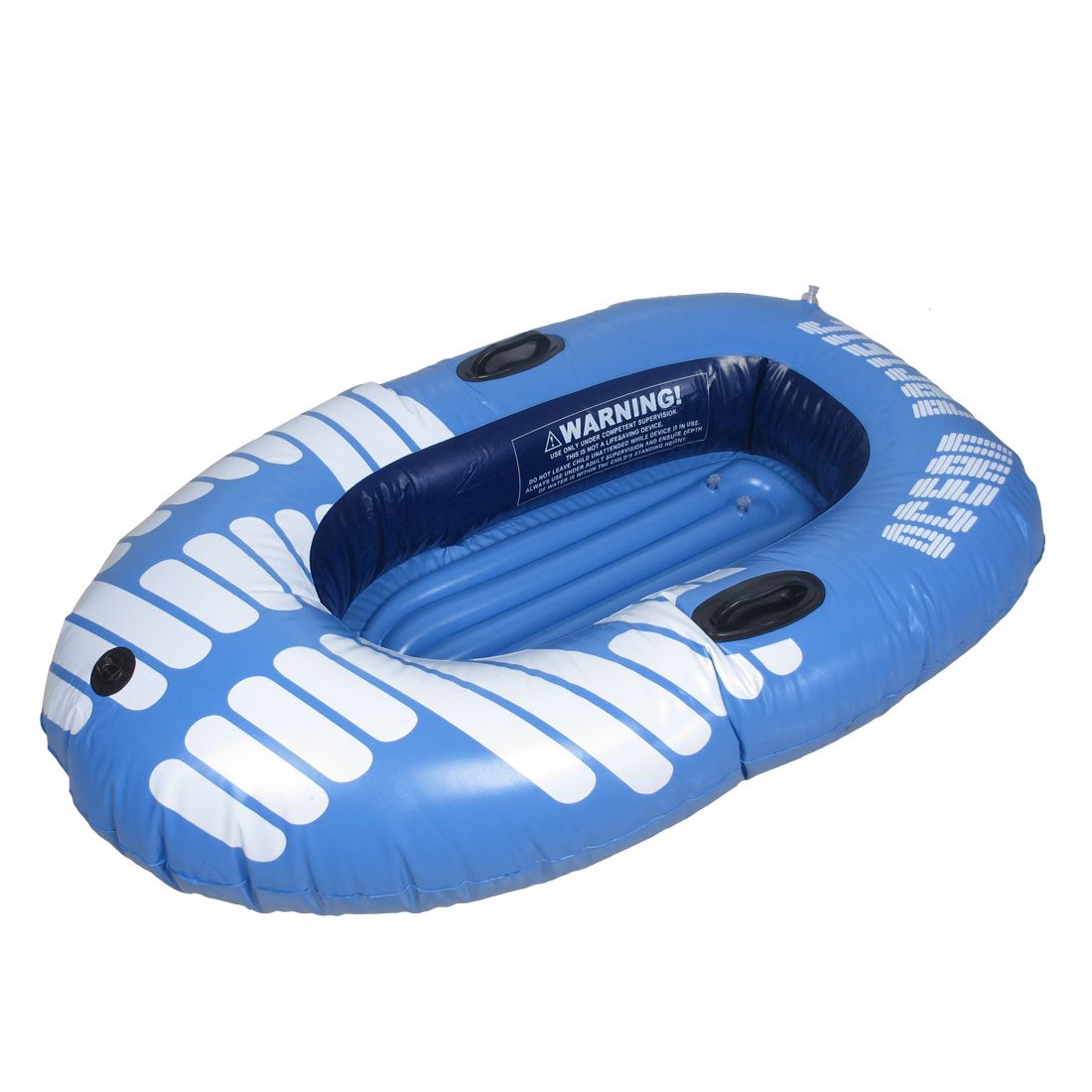 Blue White PVC Inflatable Paddle Floating Swimming Boat for Children