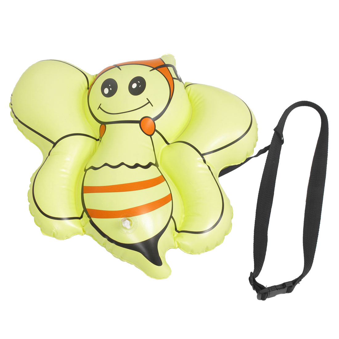 Children Yellow Bee Shaped Safety Swimming Inflatable Float Bag w Waist Belt