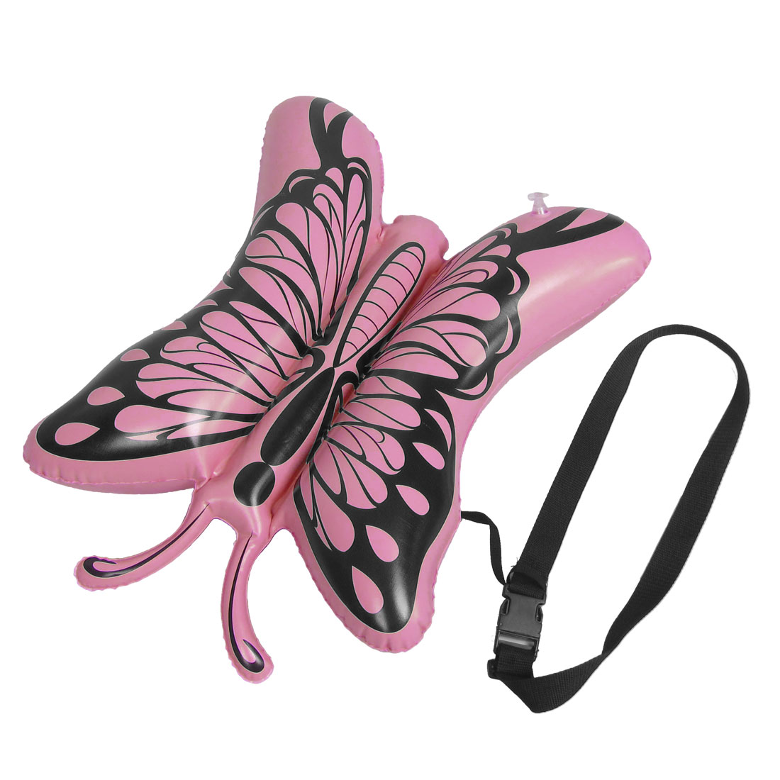 Children Pink Butterfly Shape Inflatable Water Swimming Bag w Black Waist Belt
