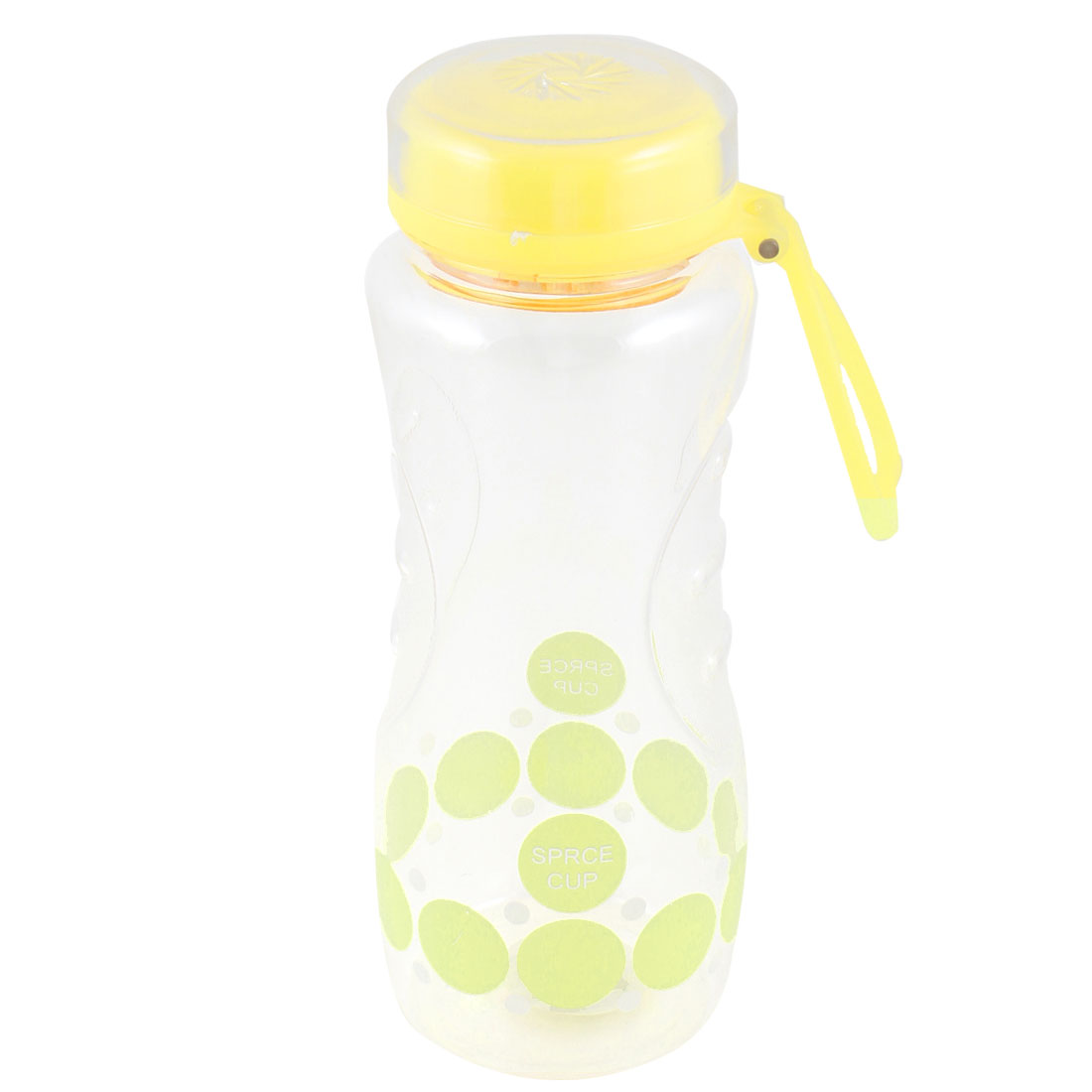 700ML Capacity Plastic Tea Strainer Yellow Clear Sports Water Bottle