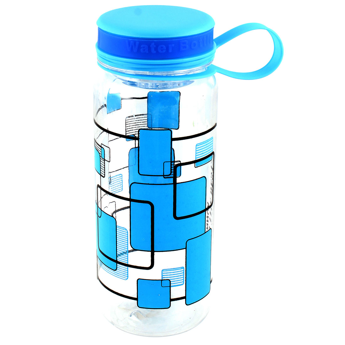 750ML Plastic Drinkware Handheld Sports Water Bottle Blue Clear