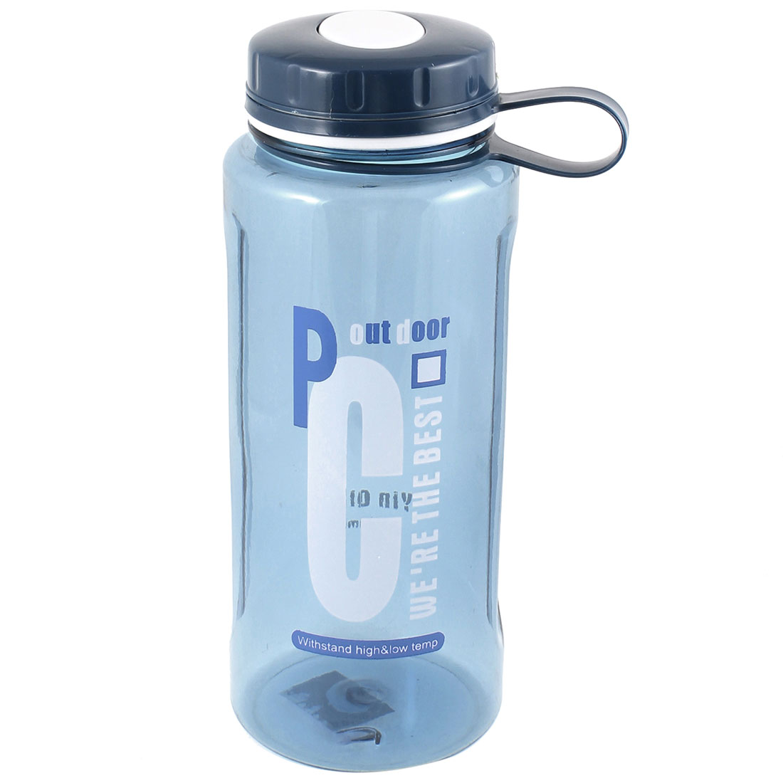 Clear Steel Blue Portable Plastic Hiking Travel Sports Water Bottle 1500ml