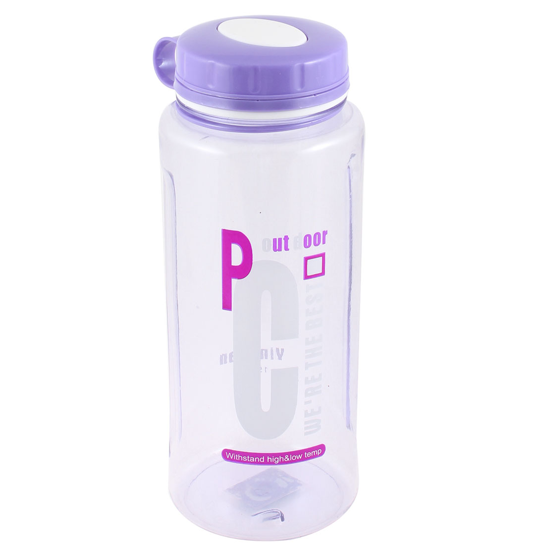 Tea Strainer Design Portable Clear Purple Plastic Sports Water Bottle 1500ml