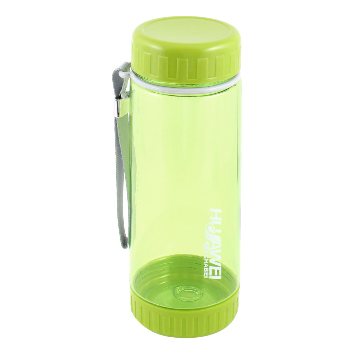 600ml Plastic Portable Handle Clear Yellow Green Sports Water Bottle
