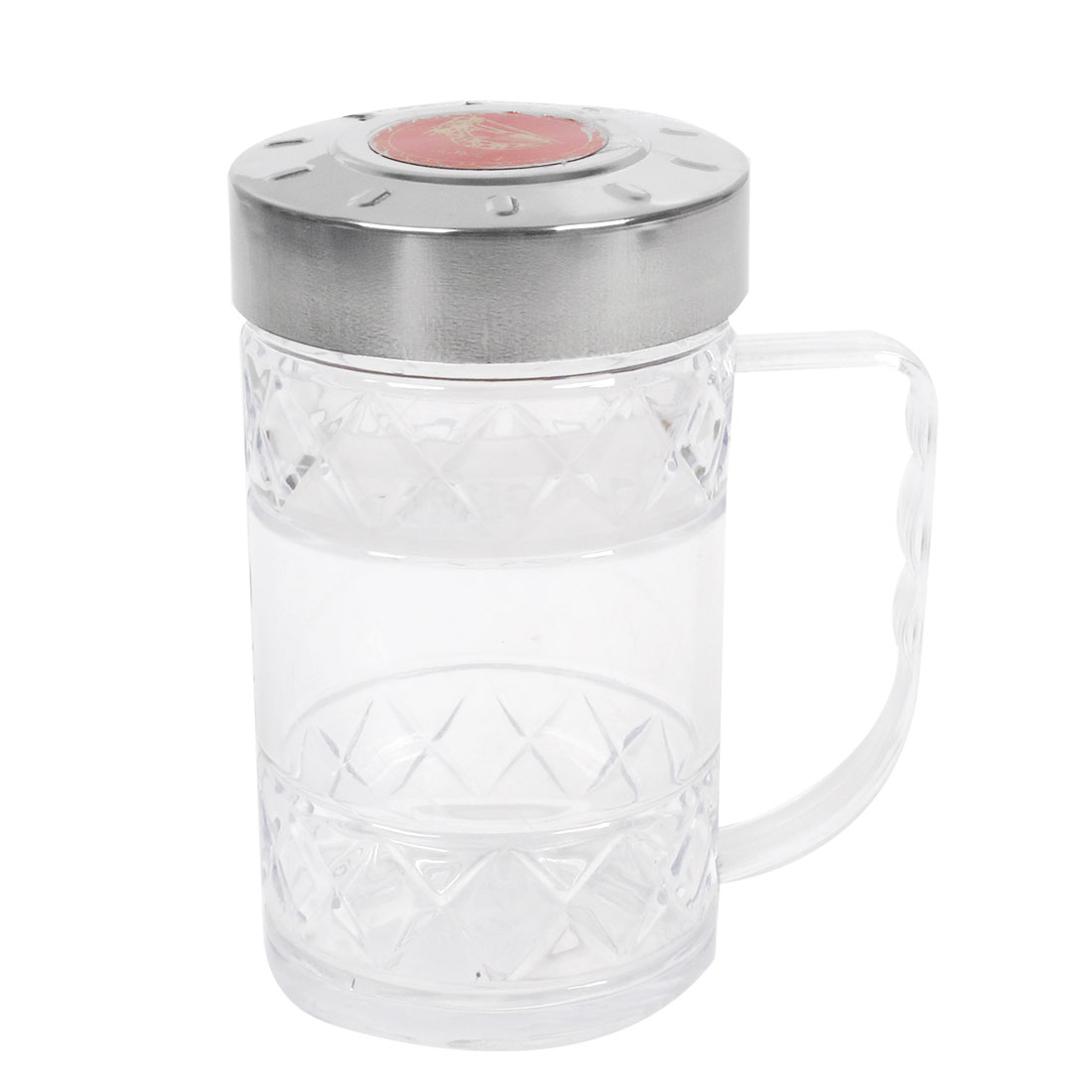Home Office Metal Cap Water Container Clear Plastic Bottle Cup 250ml